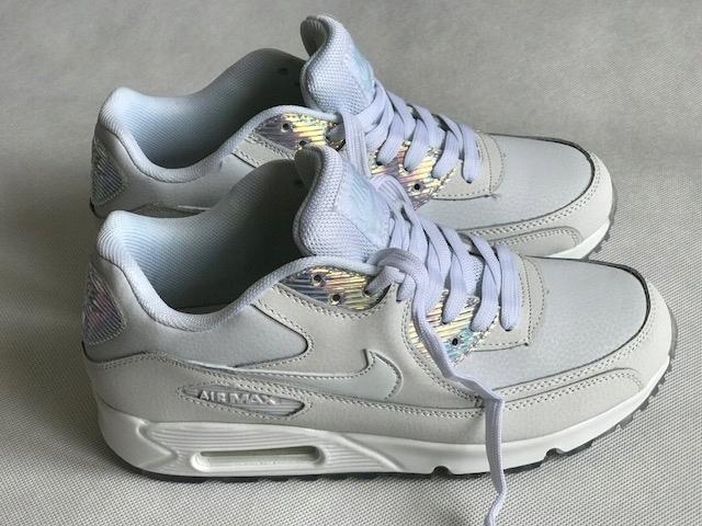 Buty Damskie Nike Air Max 90 Prm 443817 104 Białe Hologram