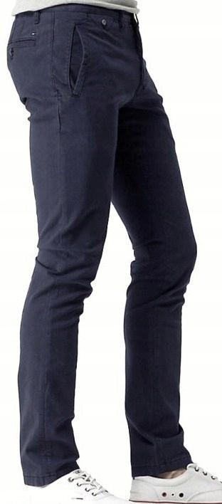 TOMMY HILFIGER spodnie chinos SLIM strech - 32/34