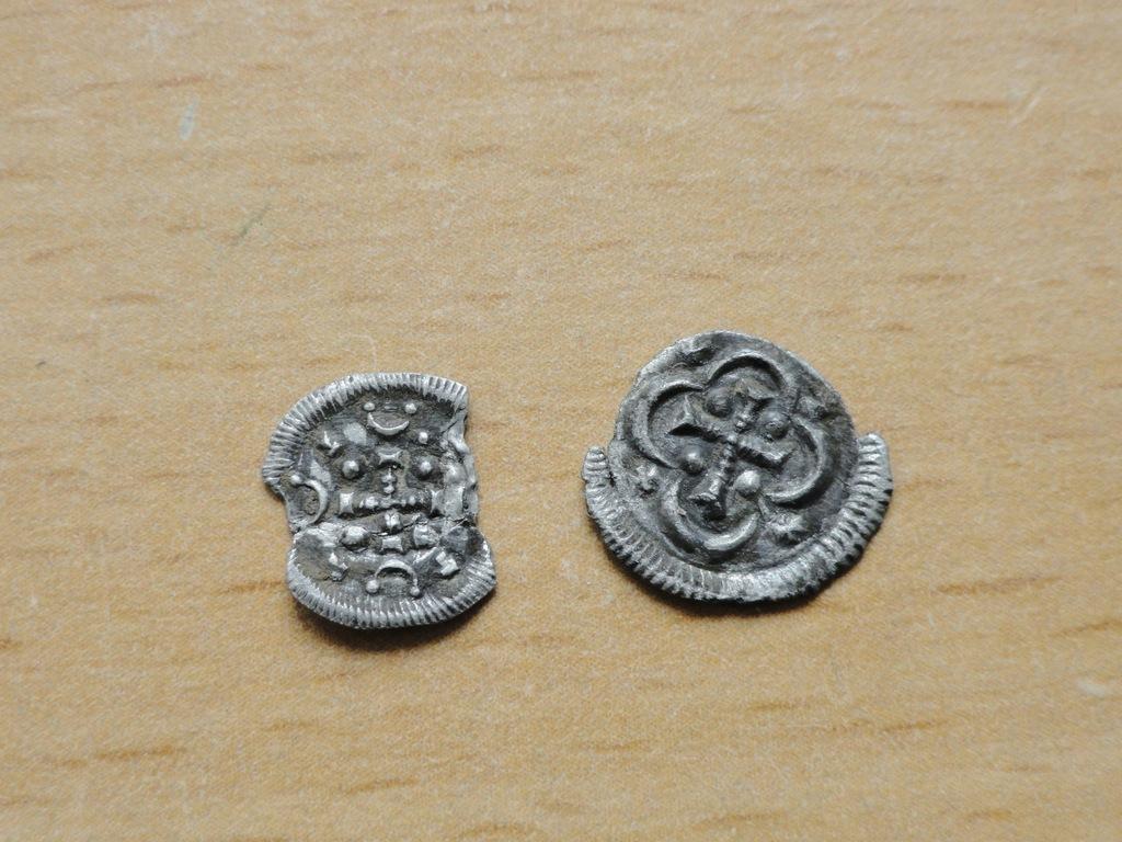 2 X Denar Bella II Ślepy 1131-1141, WĘGRY .srebro