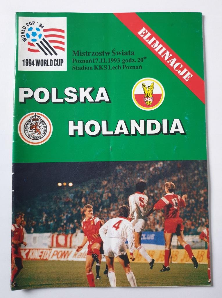 PROGRAM POLSKA - HOLANDIA 1993
