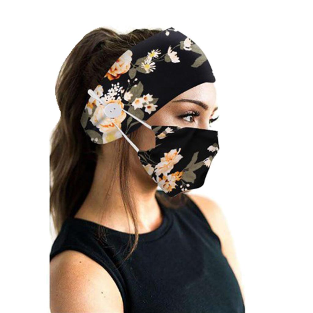 kobiety guziki opaski do włosów - Czarny kwiat