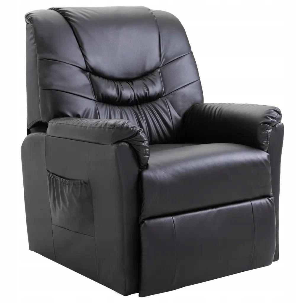 Fotel Biurowy Krzesło Rozkładane Czarne