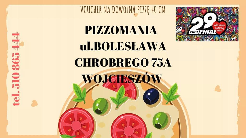 Voucher na pizze 40cm do Pizzomanii