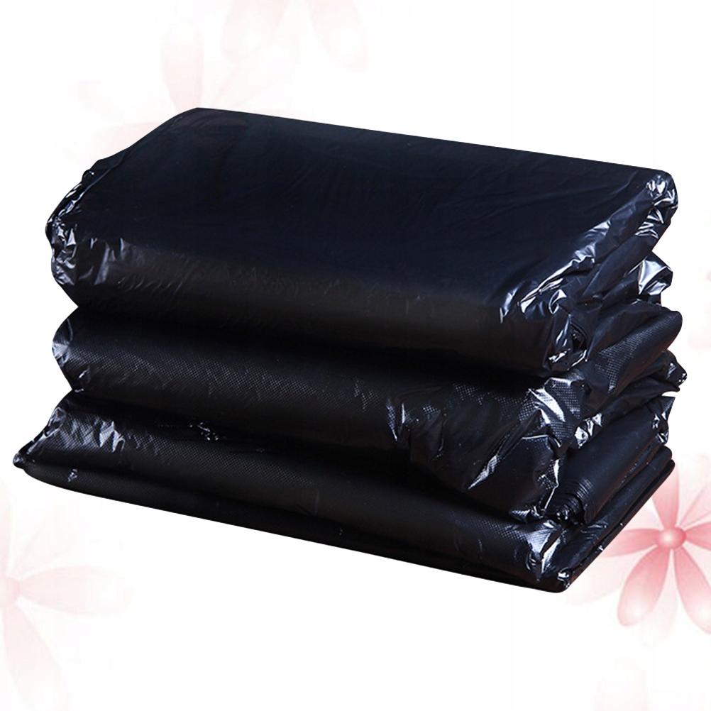 50 sztuk Duże worki na śmieci Czarny zagęścić Jedn