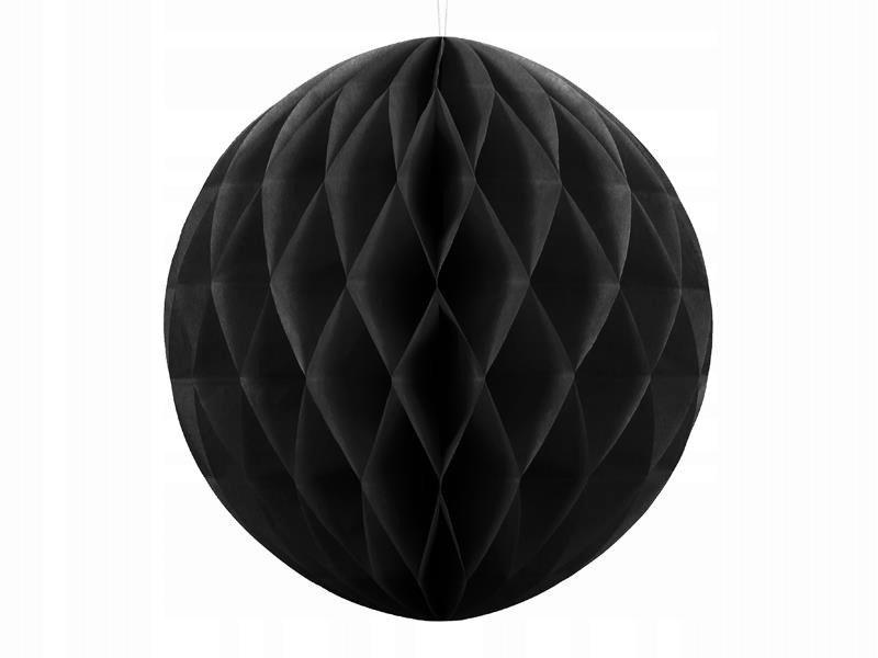 Kula bibułowa czarny 40cm, 50 szt.