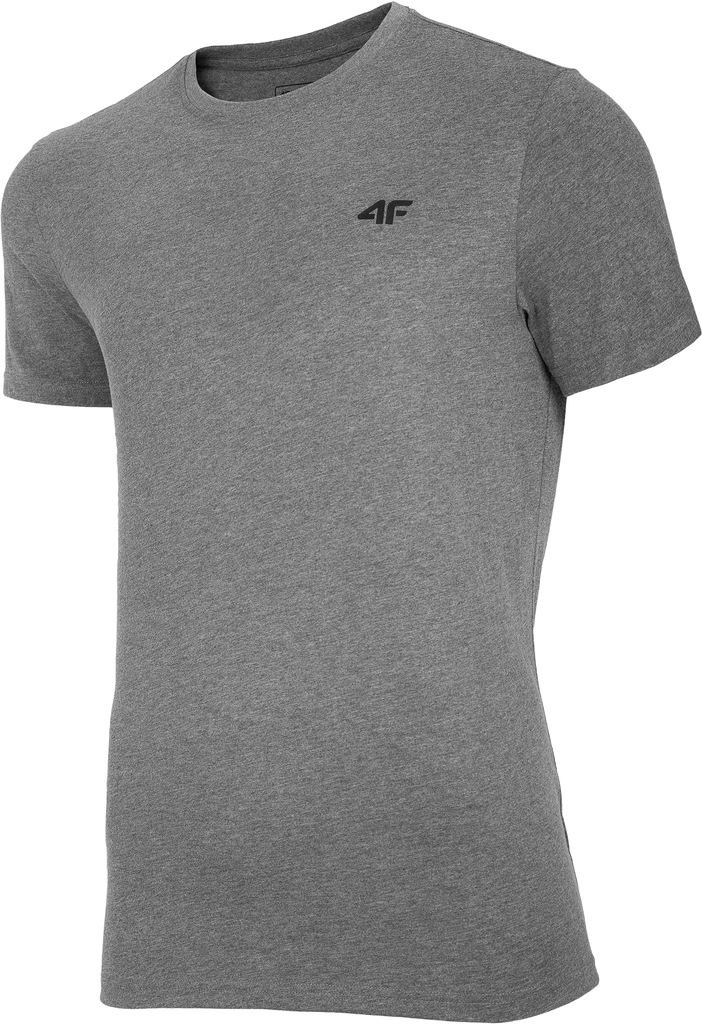 T-shirt męski 4F TSM003 koszulka szara L
