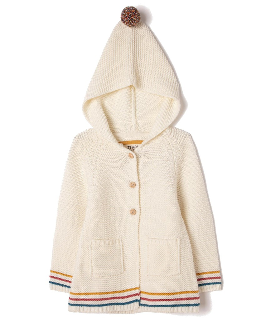 Sweter z kapturem dziewczęcy Zippy 6841926 r 121
