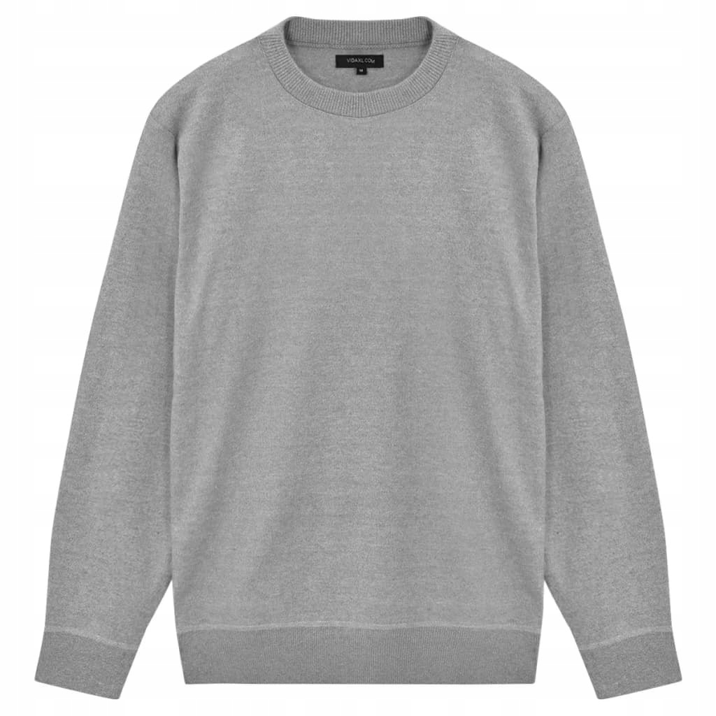 VidaXL 5 swetrów męskich z okrągłym dekoltem, szar