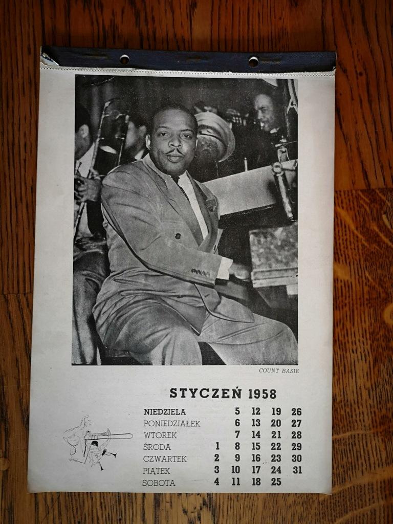 Kalendarz Jazzowy 1958 12 zdjęć i opis Miles Davis