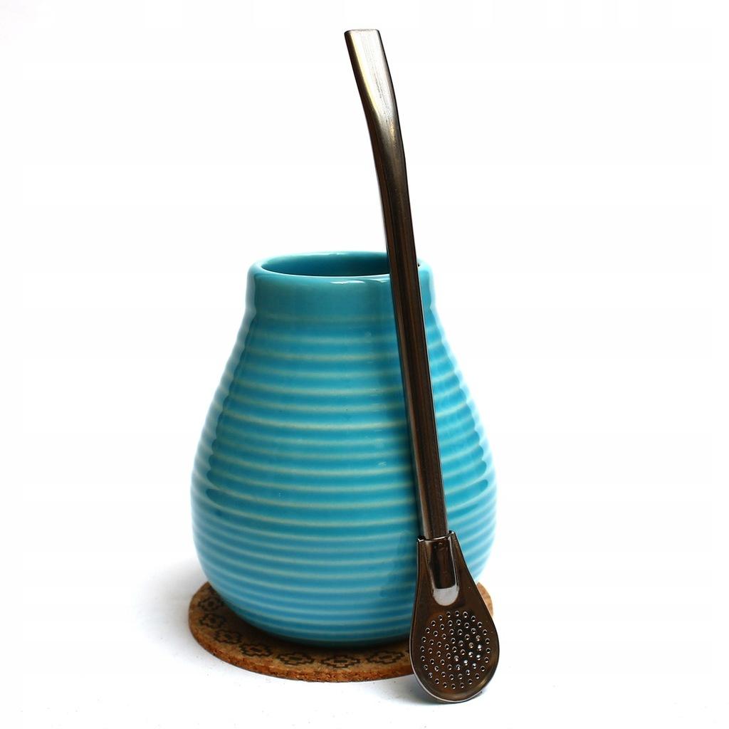 Matero ceramiczne 350 ml + Bombilla INOX 19 cm