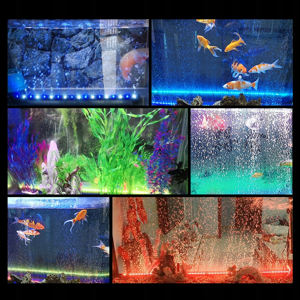 Aquarium Remote Control Color Changing Bubble Lamp