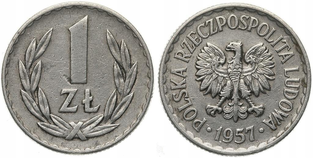 226.Polska - PRL - 1 złoty - 1957 - St.3+ #A