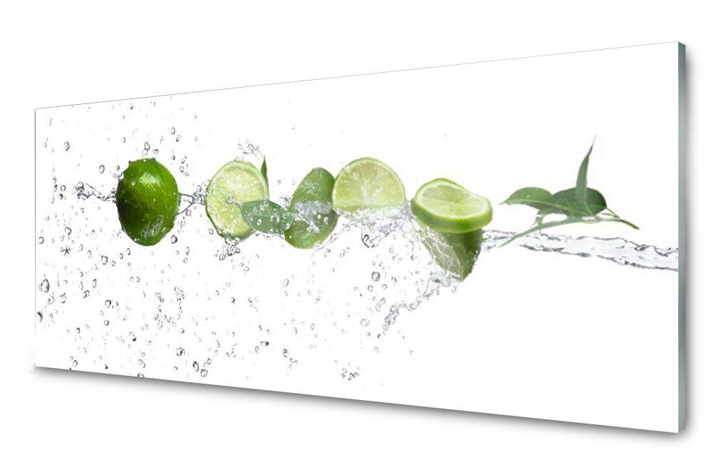 Lacobel Panel Szklany Ścienny Limonka Woda 120x60