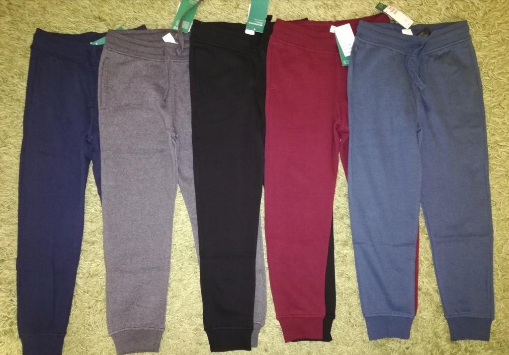 Zestaw 5szt spodnie dresowe h&m 134 nowe