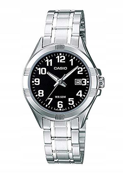 Zegarek damski Casio LTP-1308PD-1BVEF srebrna bran