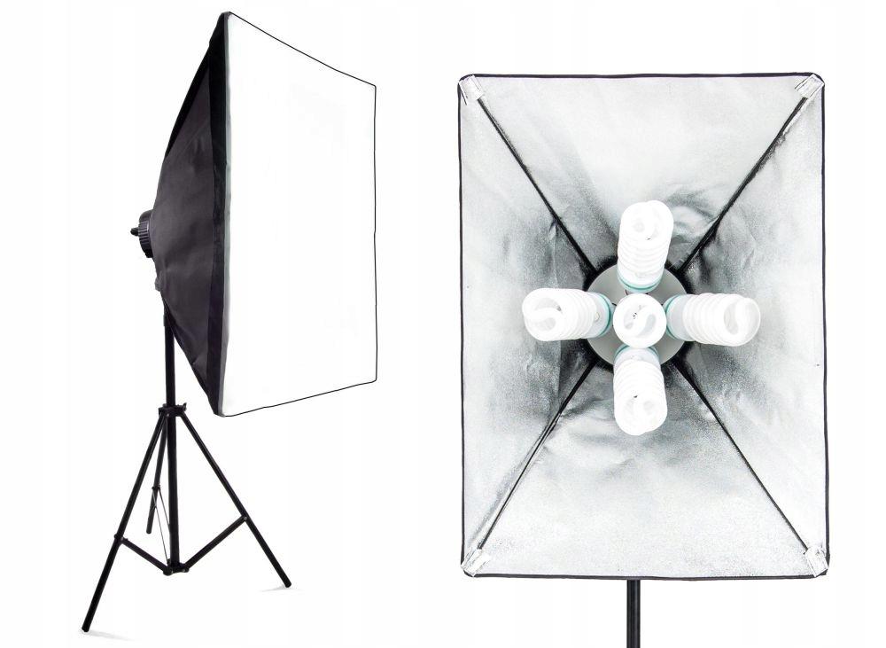 Lampa SOFTBOX światła ciągłego 50x70cm 5x85W 260cm