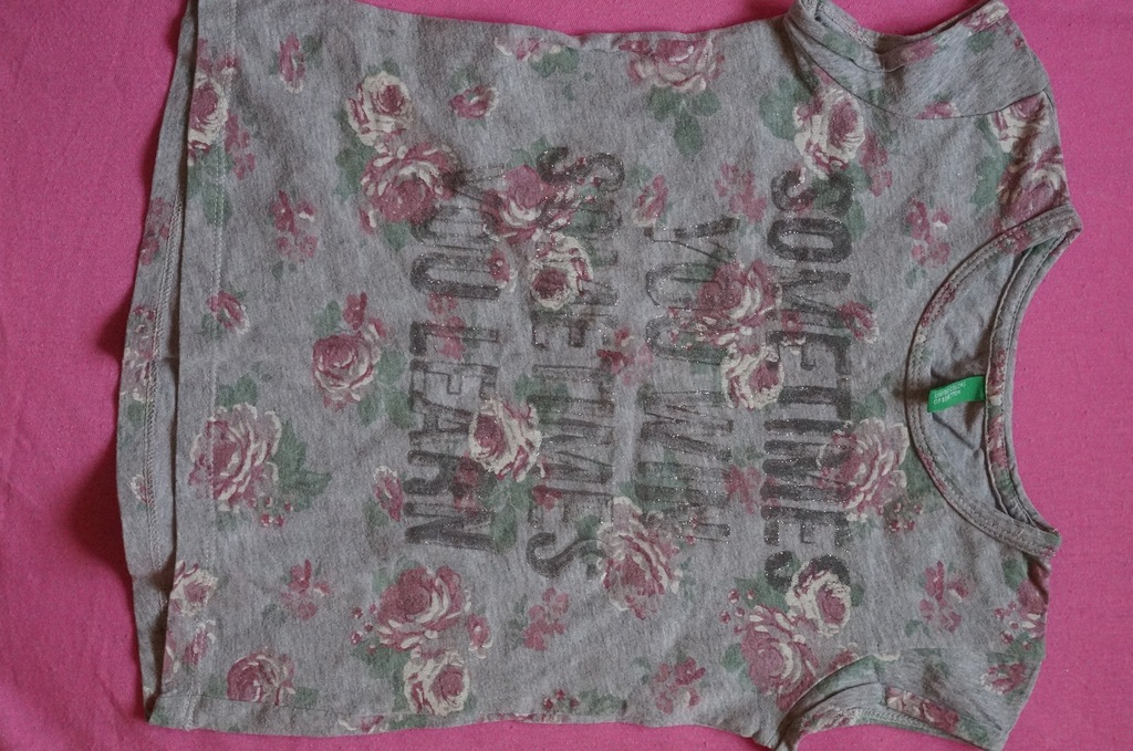bluzka koszulka BENETTON 110CM xs 4-5lat kwiaty