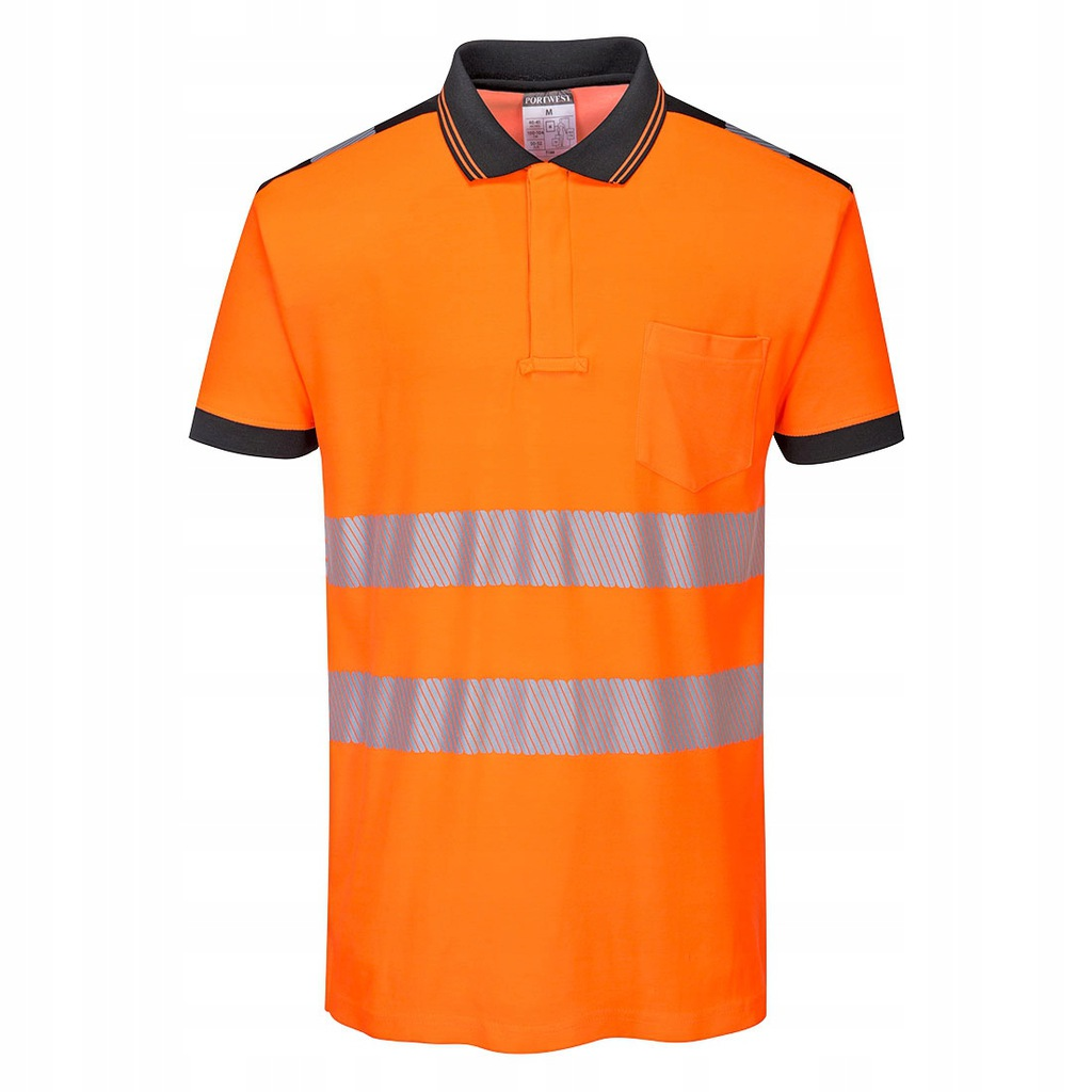 Koszulka polo robocza odblaskowa BHP PORTWEST T180