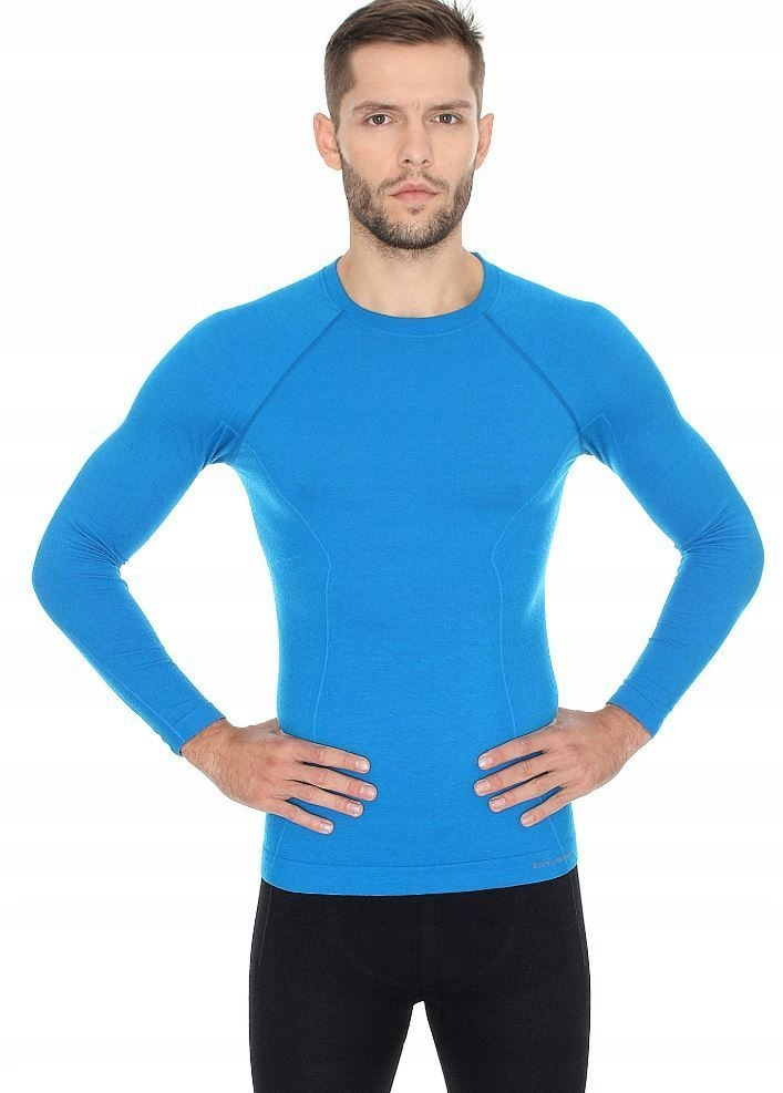 BRUBECK ACTIVE WOOL wełna MERINO męska bluzka L