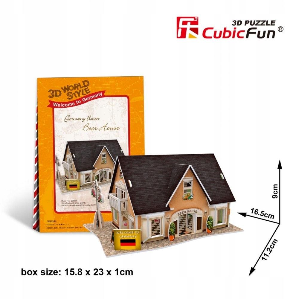 Puzzle 3D Domki świata - Niemcy Beer House