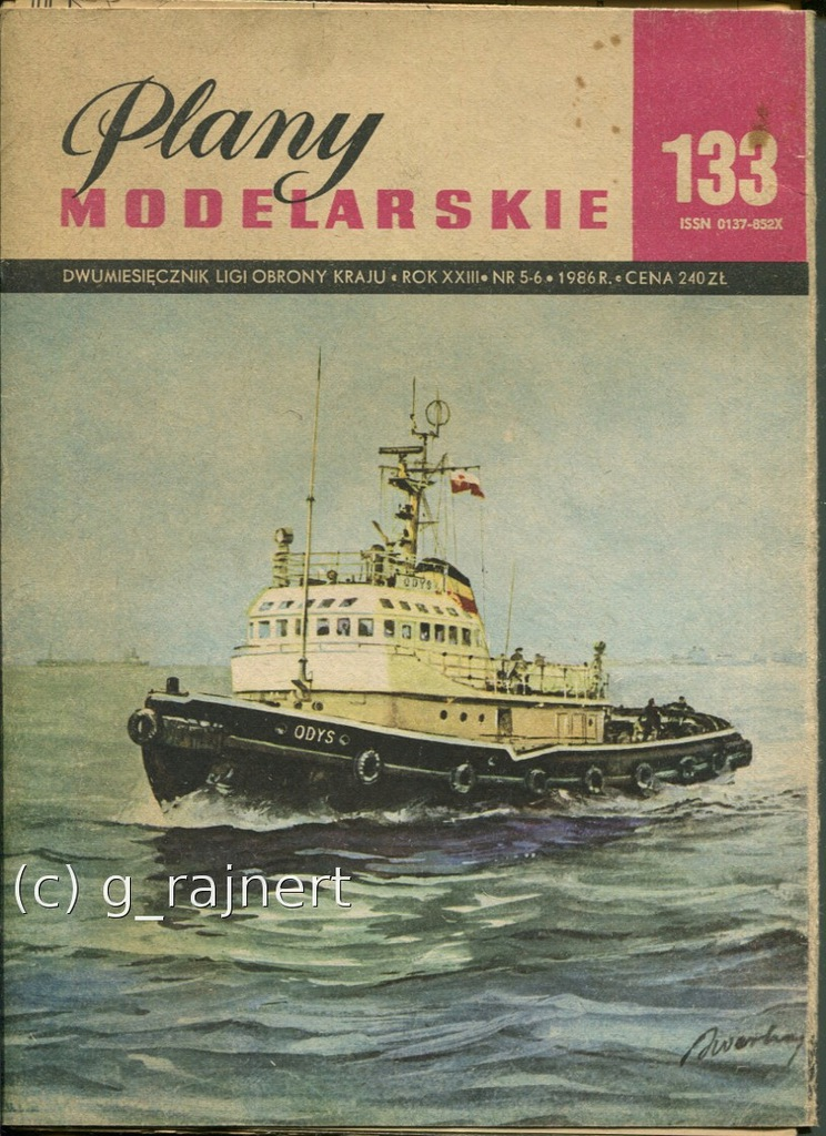 PM Plany modelarskie 133 Holowniki Odys, Arion