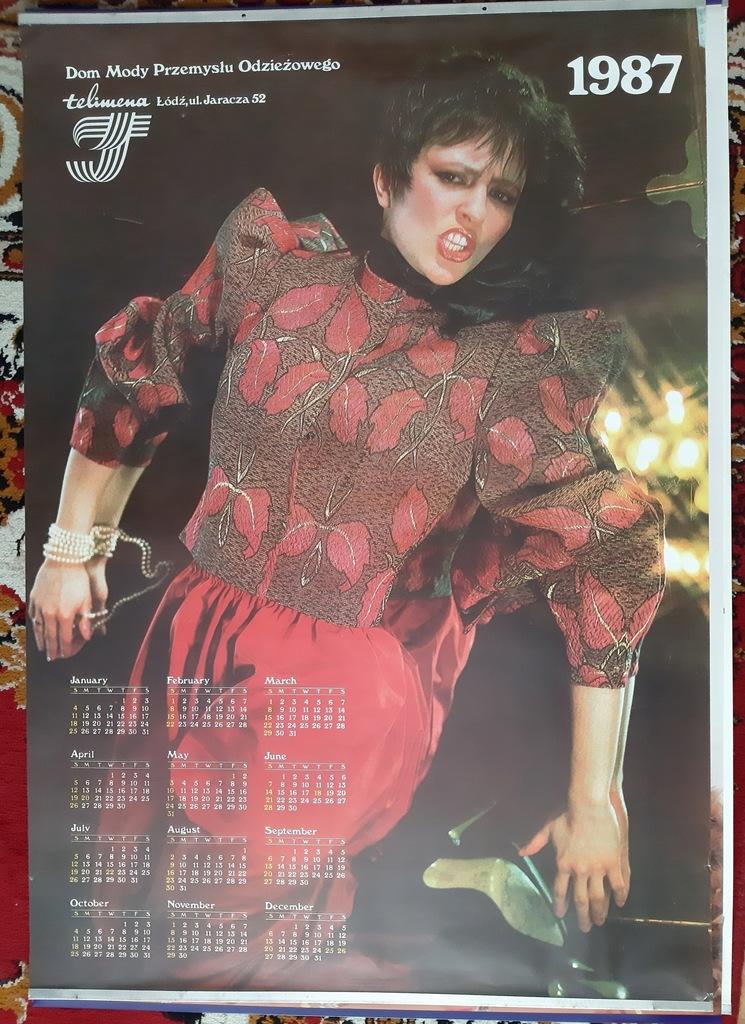 Dom Mody Telimena / plakat-kalendarz oryginał 1987