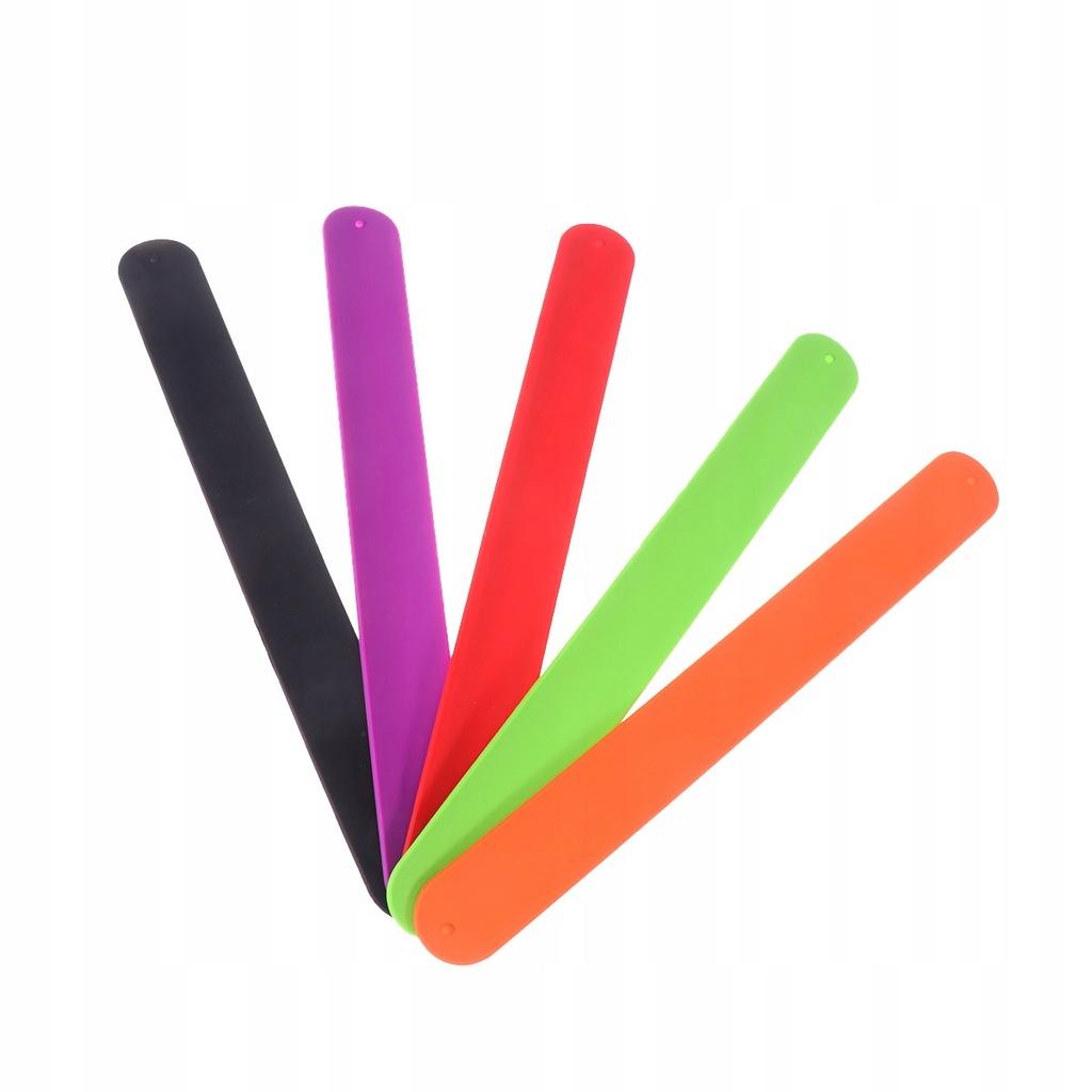 10 SZTUK Silikonowa kolorowa opaska elastyczna biu