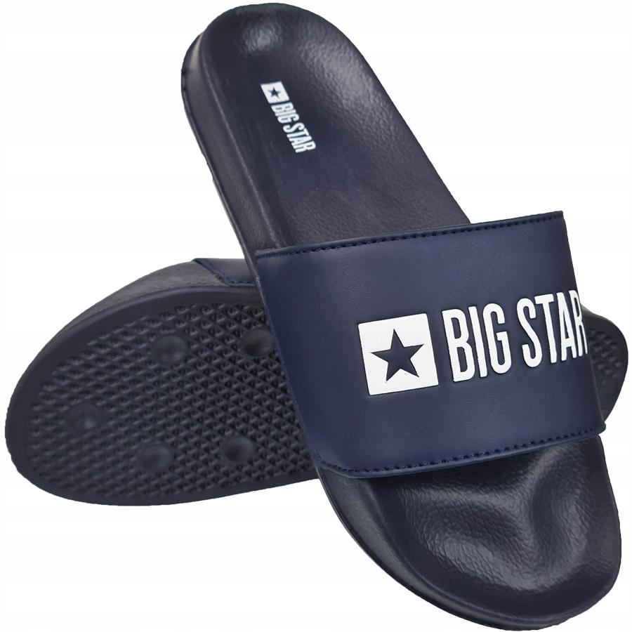 Klapki Big Star męskie granatowe GG174934 44