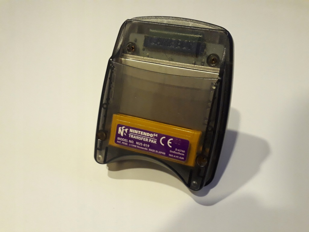 Nintendo 64 transfer pak gameboy