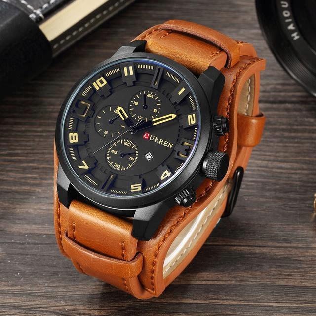Curren 8225 Black Brown zegarek męski naviforce
