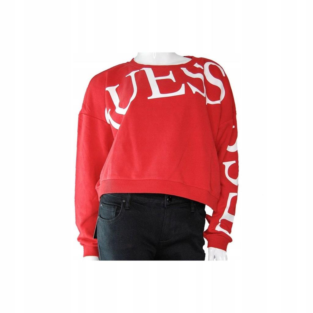 GUESS bluza czerwona r.S