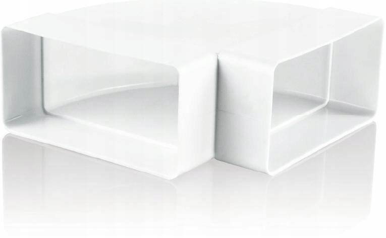 Kolano poziome łącznik kanału płaskiego KP55-4
