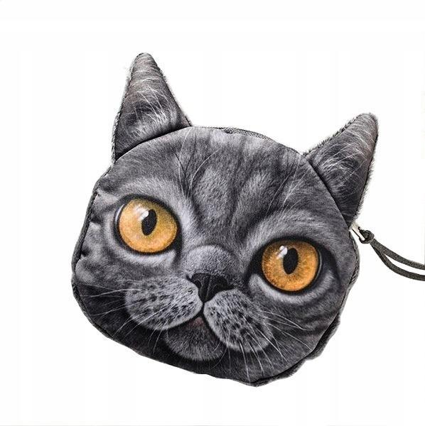 PORTMONETKA KOTEK 3D - kocie etui KOT na PREZENT 4