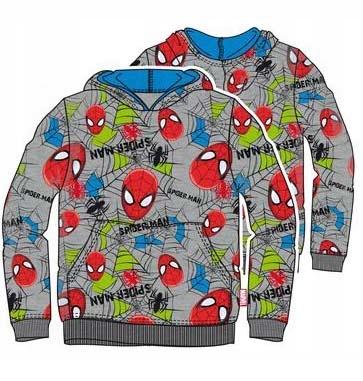 Spiderman ciepła bluza z kapturem 104