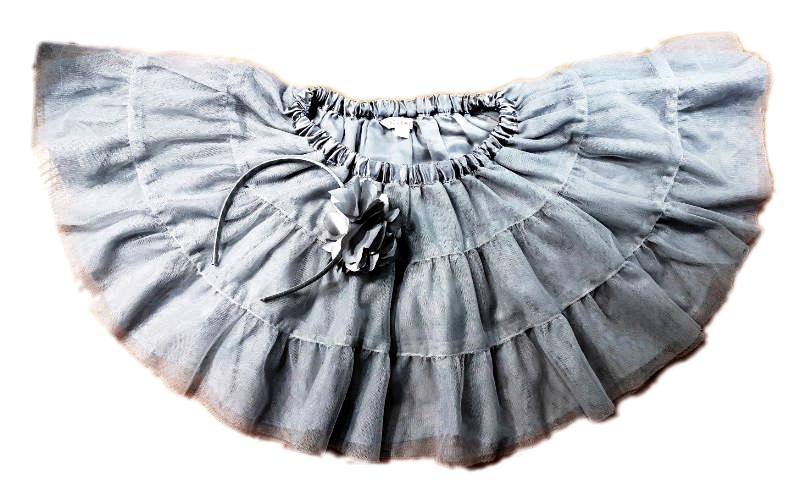 Spódnica tiulowa jasnoszara jasnoszary  Dziecko