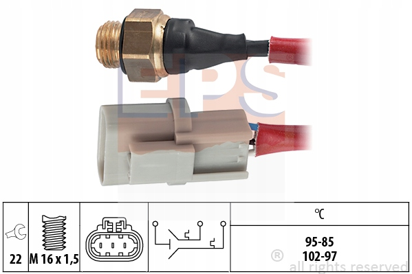 Włącznik wentylatora Nissan Primera 2.0