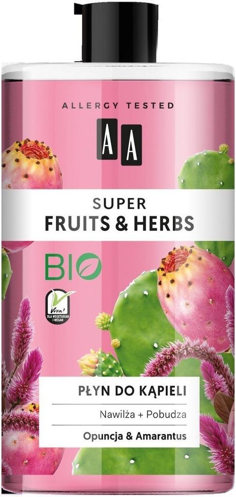 AA Super Fruits & Herbs Płyn do kąpieli nawilż