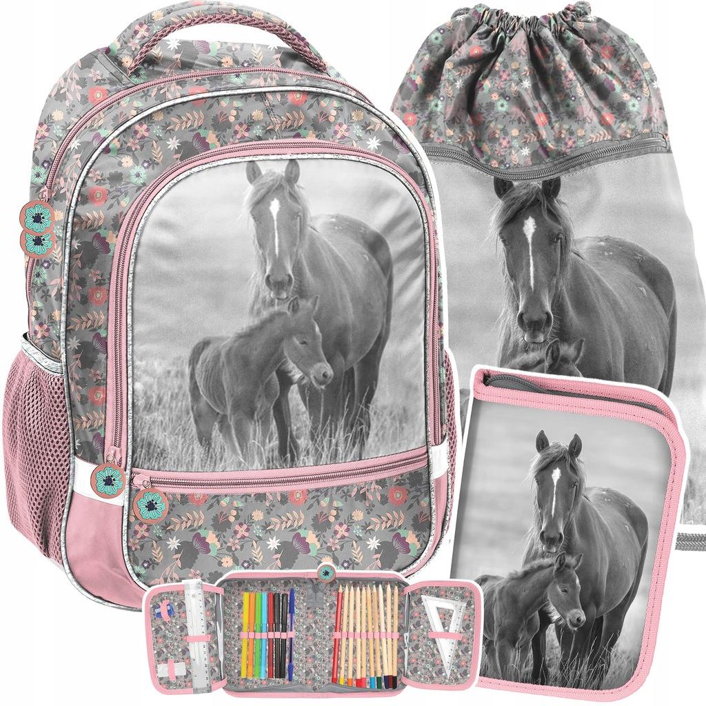 Plecak Szkolny Kon Konie Z Koniem Klasa 1 3 Zestaw 9547983981 Oficjalne Archiwum Allegro