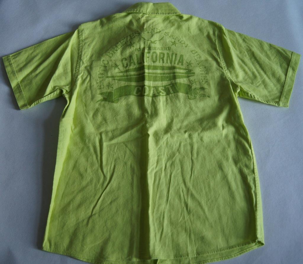 Zielona koszula z nadrukiem r 146 cm 10 11 l 8160866972  Z2rkT