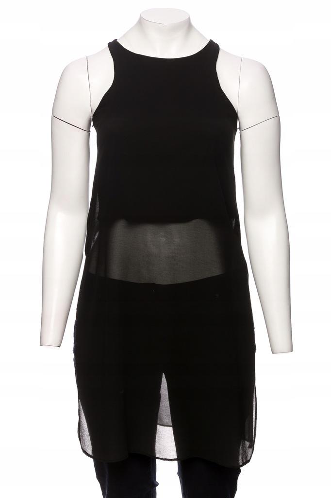 NEW LOOK czarna tunika rozcięciami na bokachr.L/XL