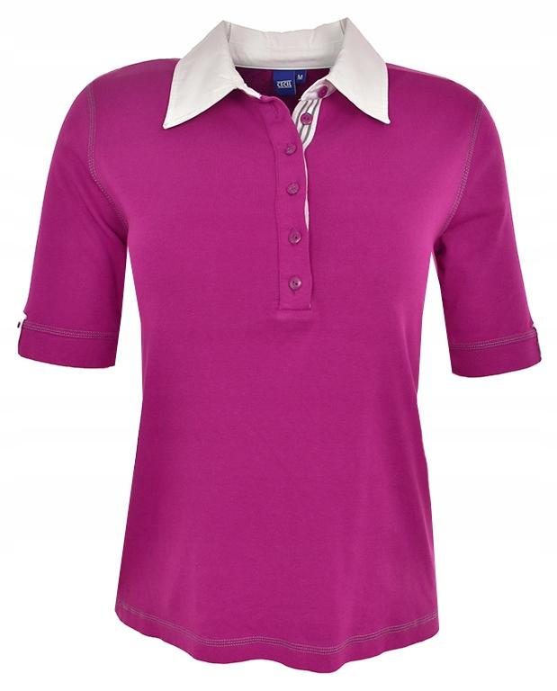bAI5624 różowa koszulka polo 46