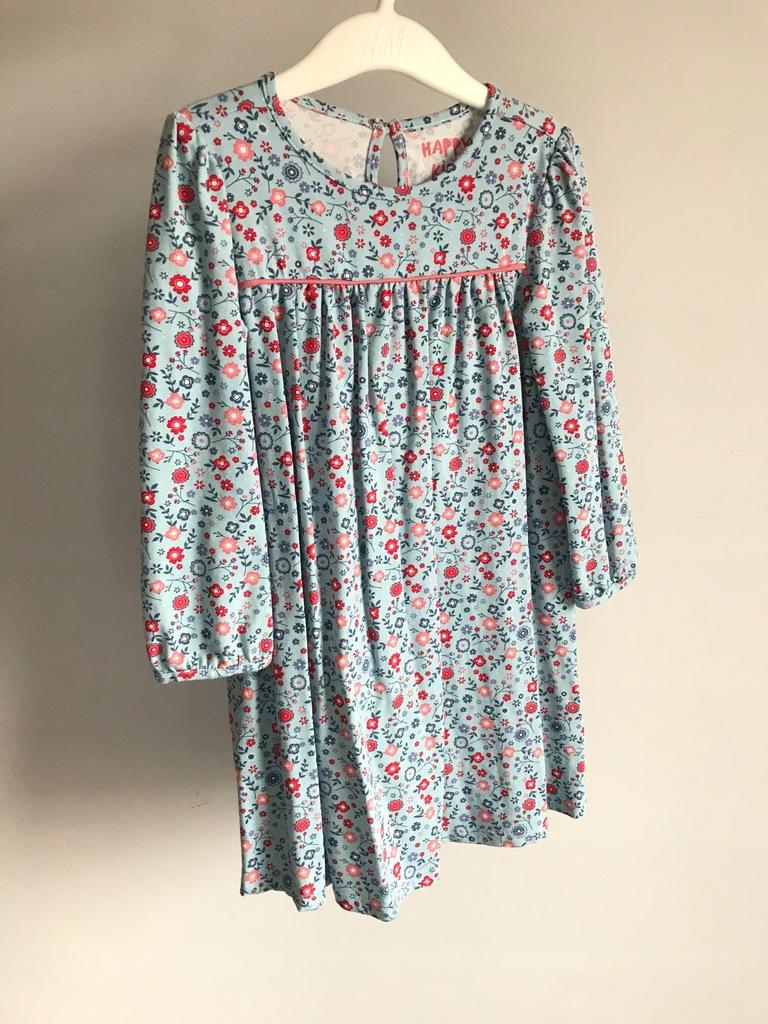 Tchibo 104 sukienka w kwiatki bawełna