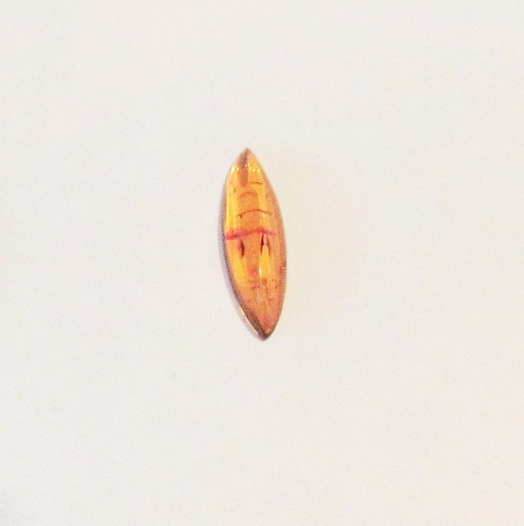 kaboszon bursztyn markiza 7 x 22 mm - 1 szt(M547)