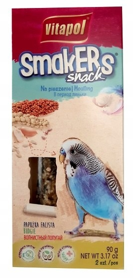 Vitapol Smakers dla papugi falistej - na pierzenie