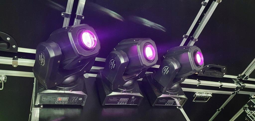 3x Głowa Ruchoma 60W LED Luminous torba GRATIS