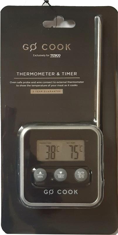 Cyfrowy termometr i timer do potraw Go Cook