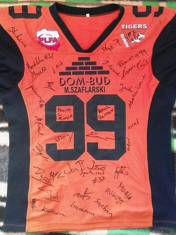 Koszulka z autografami- Kraków Tigers.