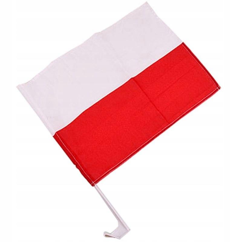 FLAGA SAMOCHODOWA POLSKA 30X45 CM