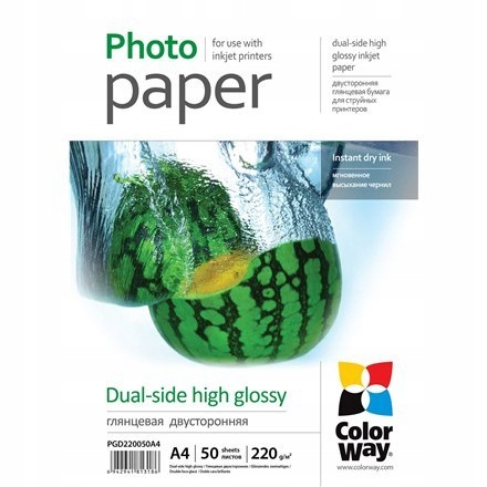 ColorWay High Glossy dual-side Photo Paper, 50 she
