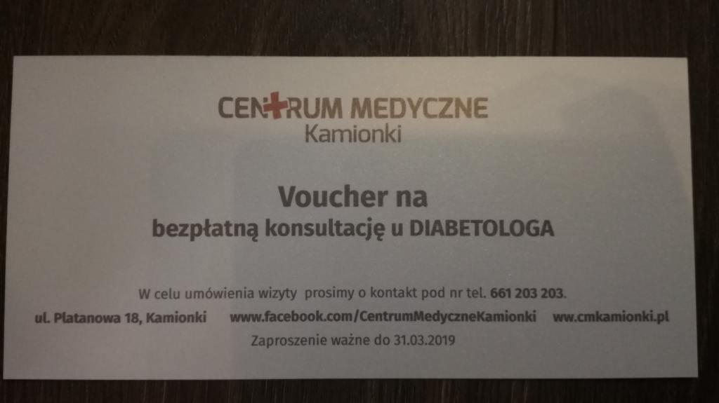 VOUCHER na bezpłatną konsultację u diabetologa